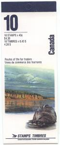 Canada - 1994 Heritage Rivers Booklet #BK170b With Imprint Pane of Ten. VF-NH