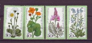 J24958 JLstamps 1977 germany berlin set mnh #9nb137-40 flowers