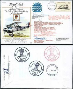 RV6e The Duke of Gloucester to Pakistan Signed by Brian Jones (A)
