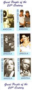 Angola Great Peope 20th.Century Sheet (6) Perforated mnh.vf
