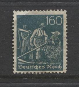 GERMANY. -Scott 176- Definitives -1921- MH - Wmk 126 - Single 160m Stamp