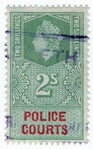 (I.B) Elizabeth II Revenue : Police Courts 2/-