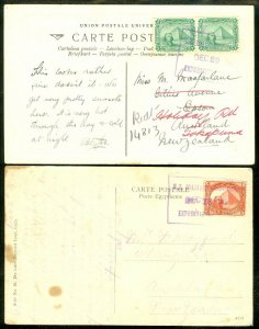 EDW1949SELL : EGYPT 1914 & 1915 Picture Post cards to NZ with Scarce Expedition.