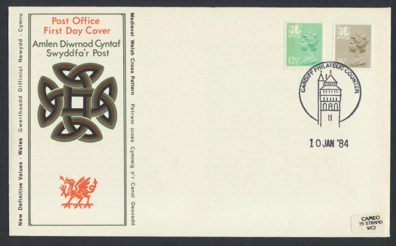 GB - Wales - SG W37a W43a SC# WMMH20 WMMH29 perf 15x14 Machin 12½p 16p see d...