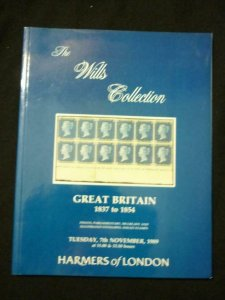 HARMERS AUCTION CATALOGUE 1989 GREAT BRITAIN THE 'WILLS' COLLECTION