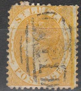 St Lucia #8  F-VF Used CV $50.00 (A17182)