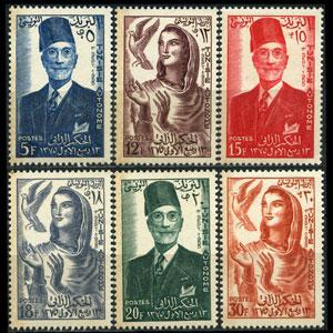 TUNISIA 1956 - Scott# 288-93 Autonomy-King Set of 6 NH