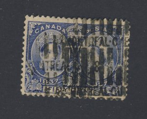 Canada Victoria Jubilee Used Stamp #60-50c Used Fine Guide Value = $115.00
