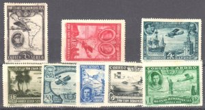 Spain #C50-C57 set MINT LH -- Air Mail