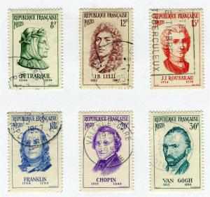 FRANCE; 1956 early National Welfare issue fine used SET