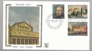 Vatican, 585-87, St. Paul of the Cross First Day Cover (FDC), Used