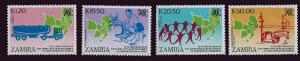 Zambia - 1990 Anniversary SADCC 4 Stamp Set   26A-010