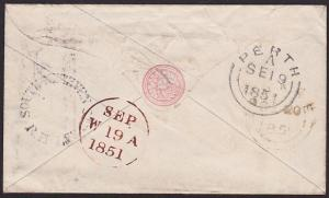 GB SCOTLAND 1881 1d cover SOUTH METHVEN STREET RH - Perth to Dunse..........2884