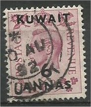 KUWAIT, 1948, used 6a on 6p, Surcharged Scott 78