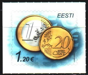 Estonia. 2014. 807. Coins on stamps. MNH.