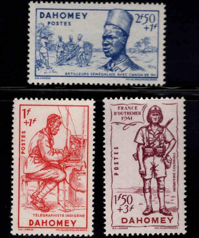 Dahomey Scott B12-14  MH* 1941 Defense set