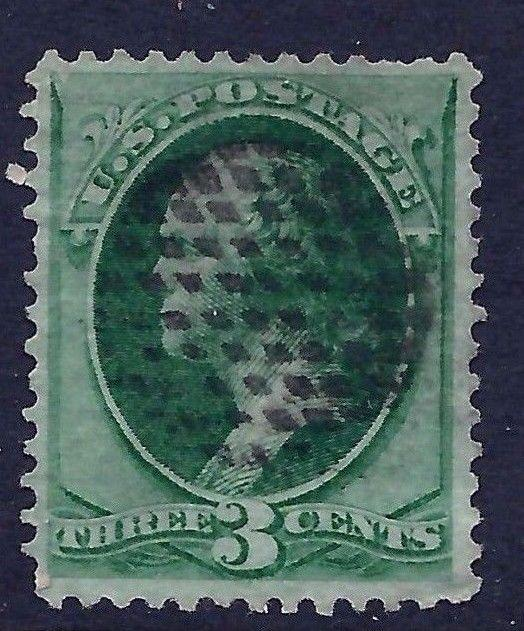 US 1800s Unknown PO Fancy Cancel = Field of Tiny Diamonds' ~ Not Listed by Cole*