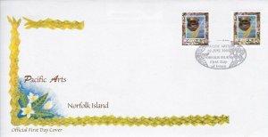 NI160) Norfolk Island 2000 Pacific Arts P&S FDC