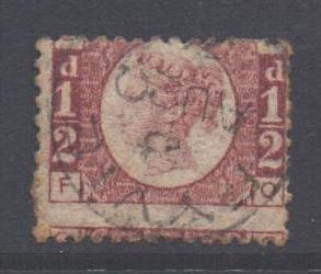 GB Scott 58 - SG48, 1858 Victoria 1/2d F-Q used