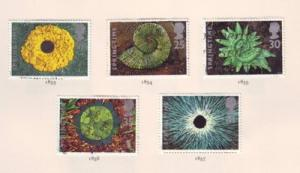 Great Britain Sc 1591-5 1995 Springtime stamps used