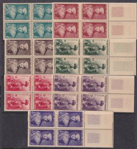 SOUTH VIETNAM^^^1954  Mich#91-97 x4   MNH++  sets( BLOCKS ) $340.00 @cam1701viet