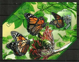 Niger MNH S/S Butterflies Insects 2014 UNIQUE DESIGN!!!!