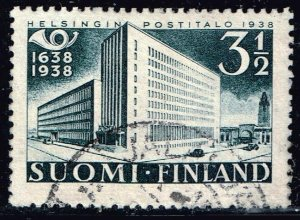 FINLAND STAMP 1938 The 300th anniversary of the Finnish post 3½Mk USED STAMP