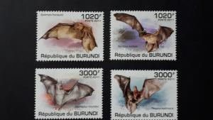 Burundi 2011. - Bats ** MNH complete set (perforated)