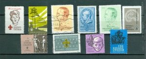 Sweden. Poster Stamp. 10 Different. Scouts Association