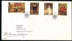 Jersey 213-6 1979 International Child Year FDC NH