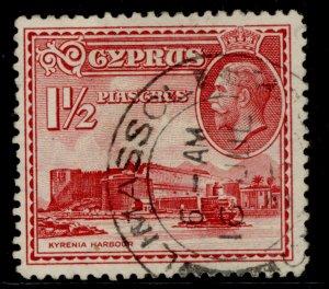 CYPRUS GV SG137, 1½pi carmine, FINE USED.