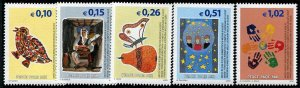 HERRICKSTAMP UNITED NATIONS KOSOVO Sc.# 11-15 Peace now in Euros