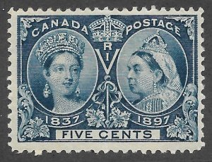 Doyle's_Stamps: XF 1897 MH Victorian Jubilee 5c Stamp, Scott #54*