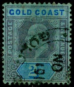 GOLD COAST SG66, 2s purple & blue/blue, USED. Cat £16.