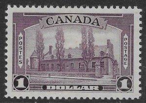 CANADA SG367 1938 $1 VIOLET MTD MINT