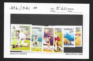 GUERNSEY Sc#336-341 Mint Never Hinged Complete Set