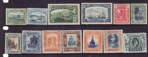 Jamaica-Sc#88-100-Unused  hinged KGV definitive set-1921-23-