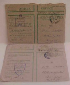 PALESTINE  GREEN 1944 FPO 172,233 also 1945 SEPT FPO 141 BOTH TO  TEL AVIV