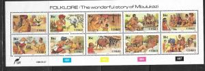 Ciskei MNH S/S 122 Folklore Mbulukazi 1988