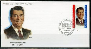 MARSHALL ISLANDS 2004 RONALD REAGAN  FIRST DAY COVER