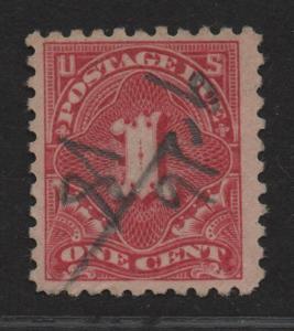 $US Sc#J59 used, F-VF, Crowe cert., Cv. $750