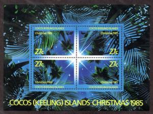 COCOS ISLAND 151 MH S/S SCV $3.00 BIN $1.35 TREES