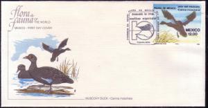 Mexico FDC SC# 1346 Muscovy Duck L63