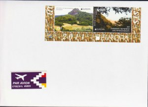 EUROPA CEPT 2011 NAGORNO KARABAKH ARMENIA AIR MAIL COVER TO YOUR ADDRESS R17540