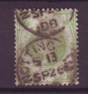 J14006 JLstamps 1887-92 great britain used #122 queen $72.50 scv