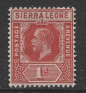 Sierra Leone - Scott 104 - KGV - Definitive -1912 - MNH- Single 1d Stamp