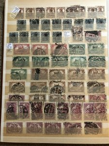 GERMANY; 1905-20s fine used Germania ACCUMULATION 100s Many fine POSTMARKS