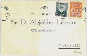 SPAIN - POSTAL HISTORY - GUERRA CIVIL variedad - ERROR on stamp used on postcard