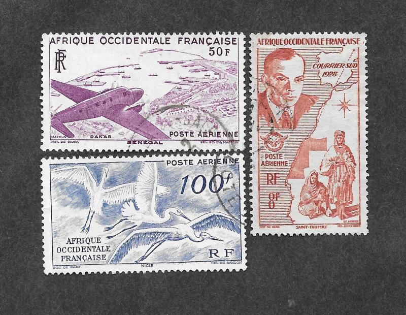 French West Africa C11,C12,C13 Used!
