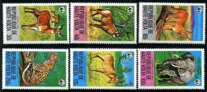 HERRICKSTAMP BURKINA FASO Sc.# 506-11 1979 Plains Animals W.W.F.